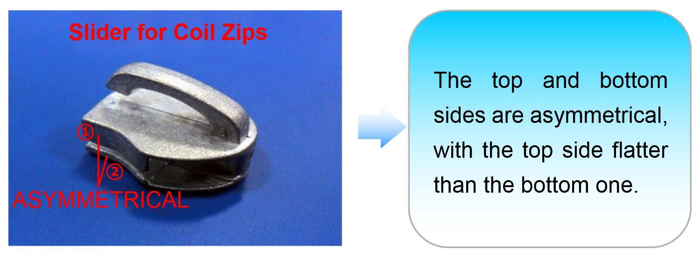 Slider For Coil Zips