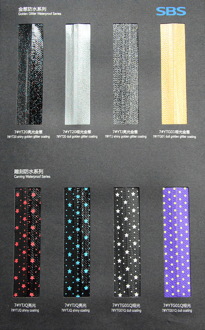 3_Nylon Waterproof Zipper Color Card | SBS Zipper