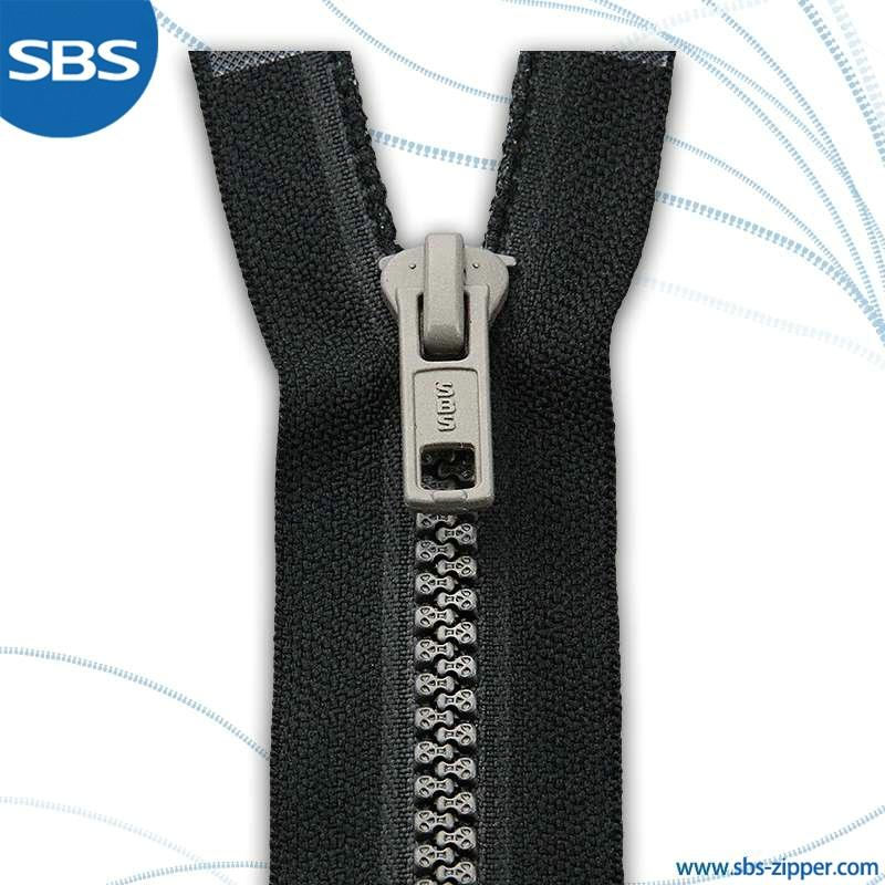 Open Metal Zipper