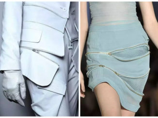 creative use of zips in clothing