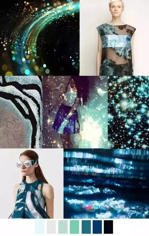 Pattern curator spring summer 2017 pattern color trends for Cosmic pattern clothing