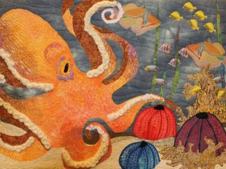 quilted artwork by Gorge fiber artists Beyond the Block