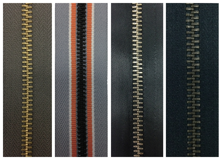 various types of tapes for metal zippers