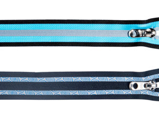 reflective coil zippers