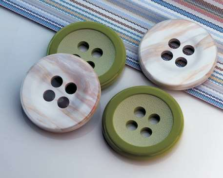 flat buttons with 4 holes