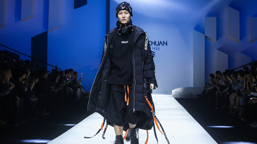 down jackets in China Fashion Week AW 2018-2019