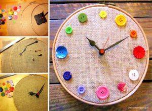DIY-button-clock