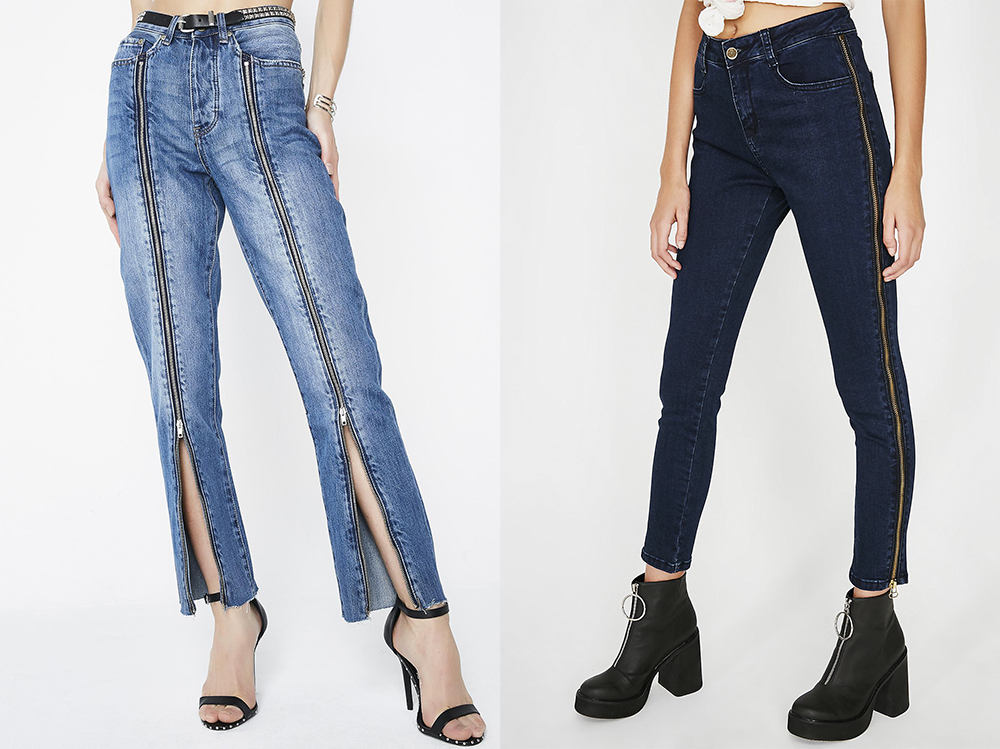 Long Zipped Jeans