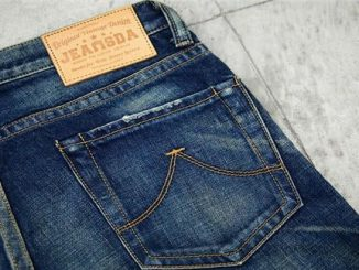 Leather Label of Jeans