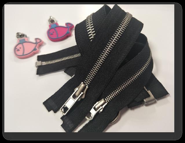 Metal Zipper with Dim Nickel Teeth