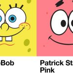 SpongeBob Yellow and Patrick Star Pink