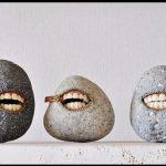 Metal Zippers in Surreal Stone Zipper Sculpture