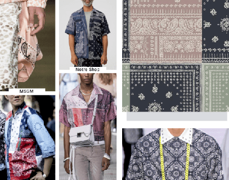 fashion items with scarives print