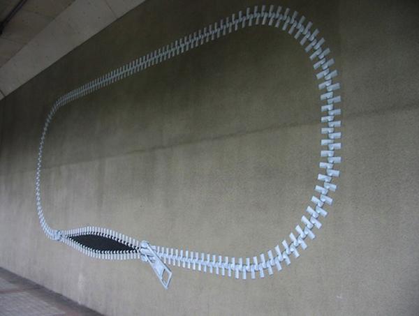 zipper installation art1