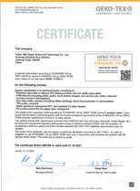 View a large version of the OEKO-TEX100 Certificate image