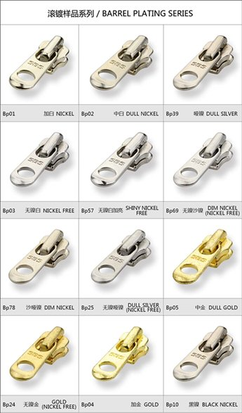 Barrel Plating Series-Metal Zipper | SBS Zipper