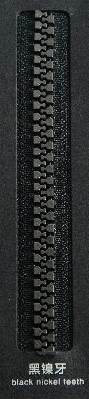 black nickel teeth | SBS Zipper