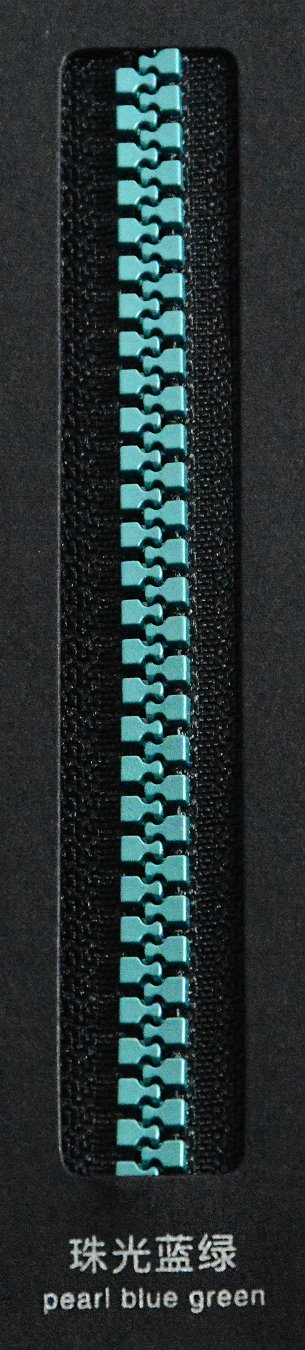 pearl blue green | SBS Zipper