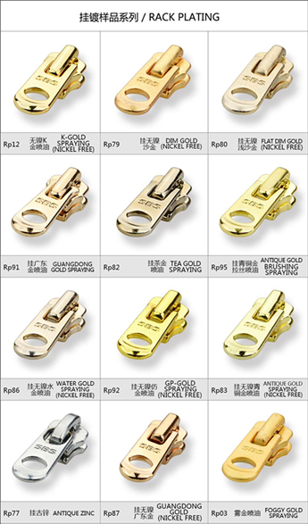 Rack Plating-Metal Slider | SBS Zipper