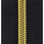 Coating coil zipper-antique brass