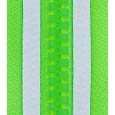 Reflective plastic (resin) zipper-green