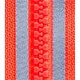 Reflective plastic (resin) zipper-red
