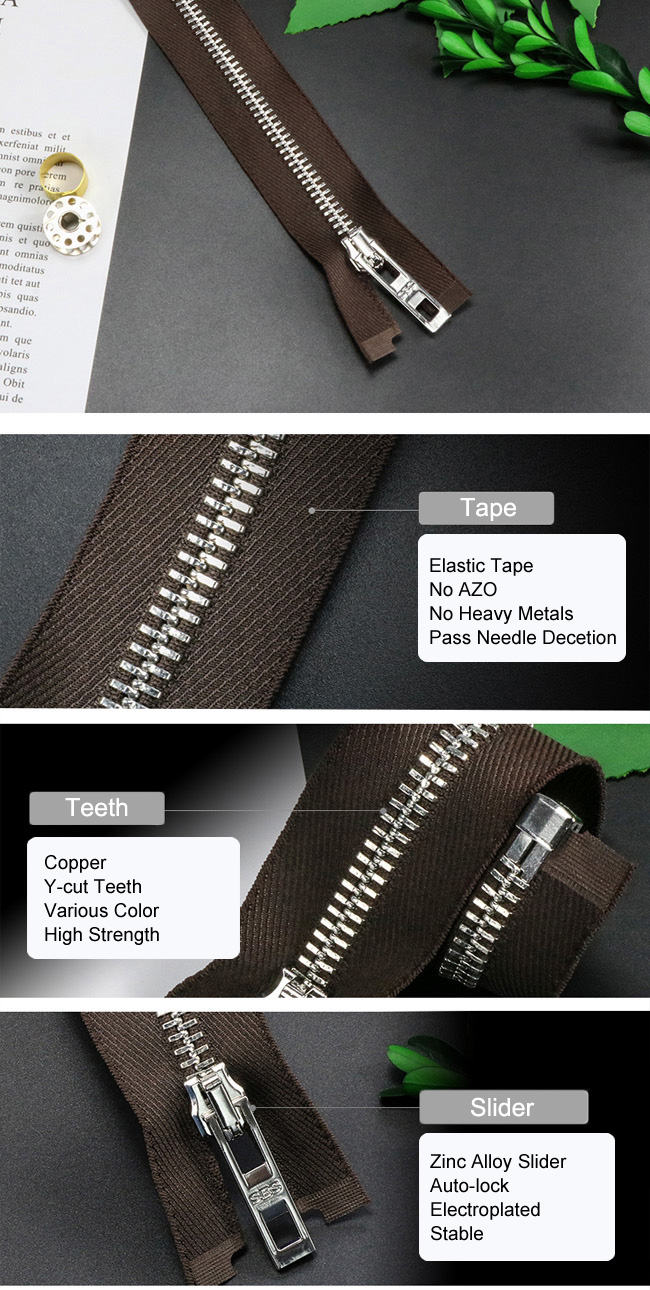 Metal Zipper  With Elastic Tape factory