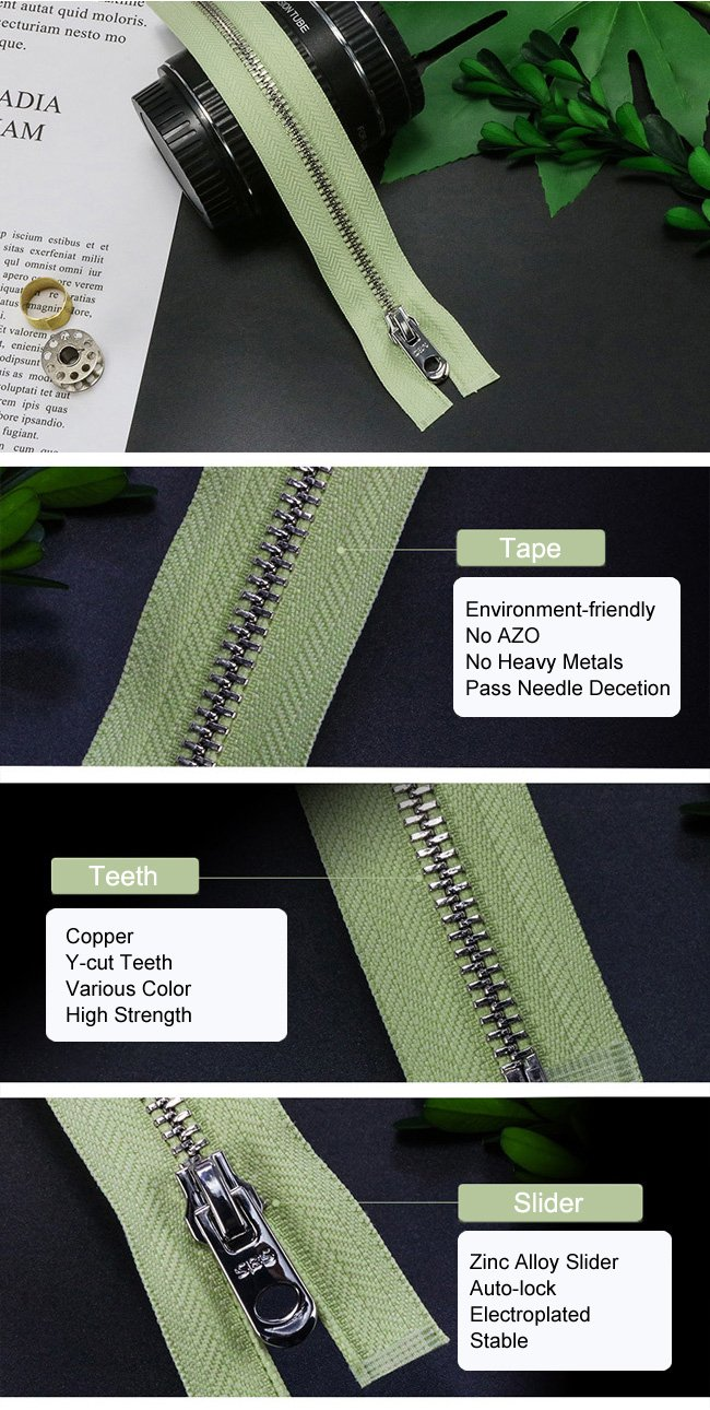 Environmental Metal Zipper supplier
