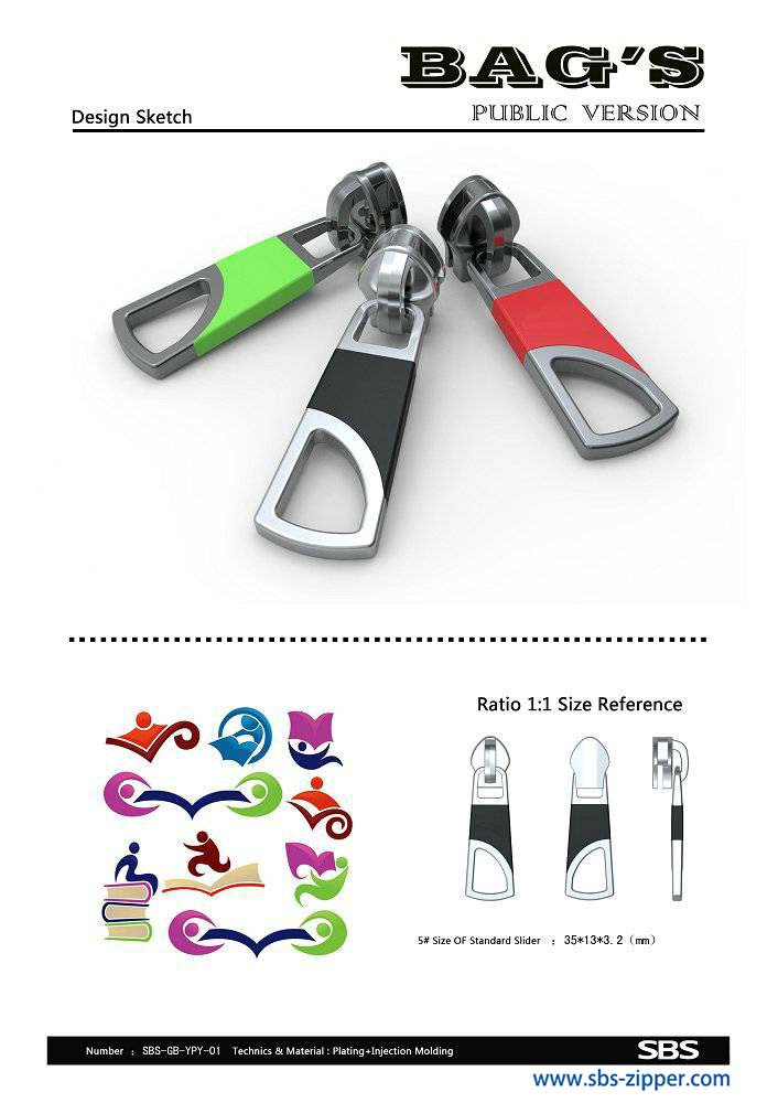 Custom Metal Zipper Pulls Manufacturer 15AC009 | SBS Zipper