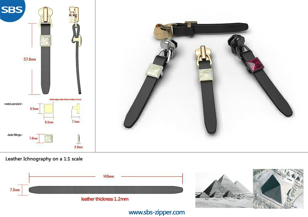 Leather Zipper Pulls Supplier 15SWC003 | SBS Zipper