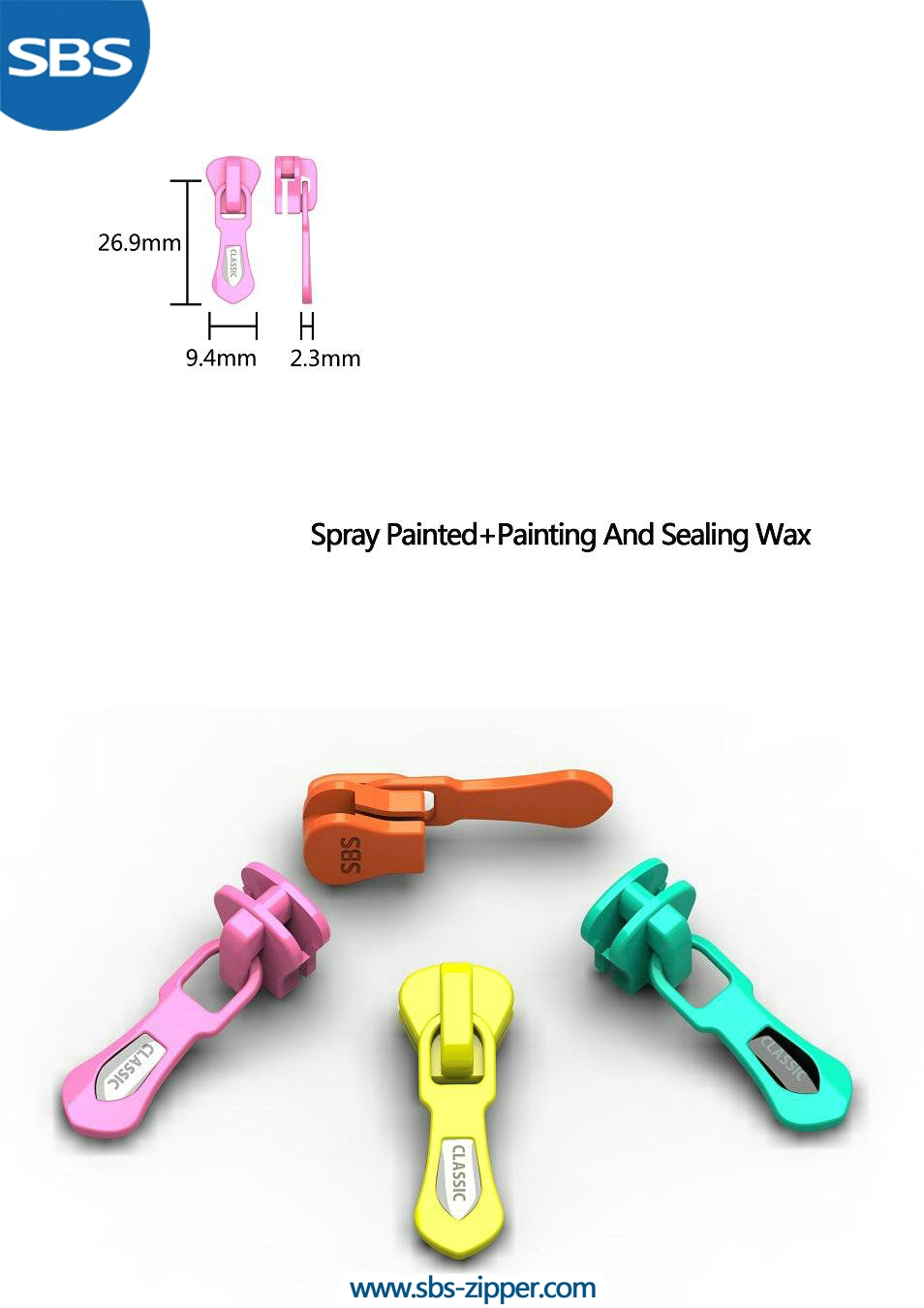 Heavy Duty Zipper Pulls Wholesale 16ACC002 | SBS Zipper