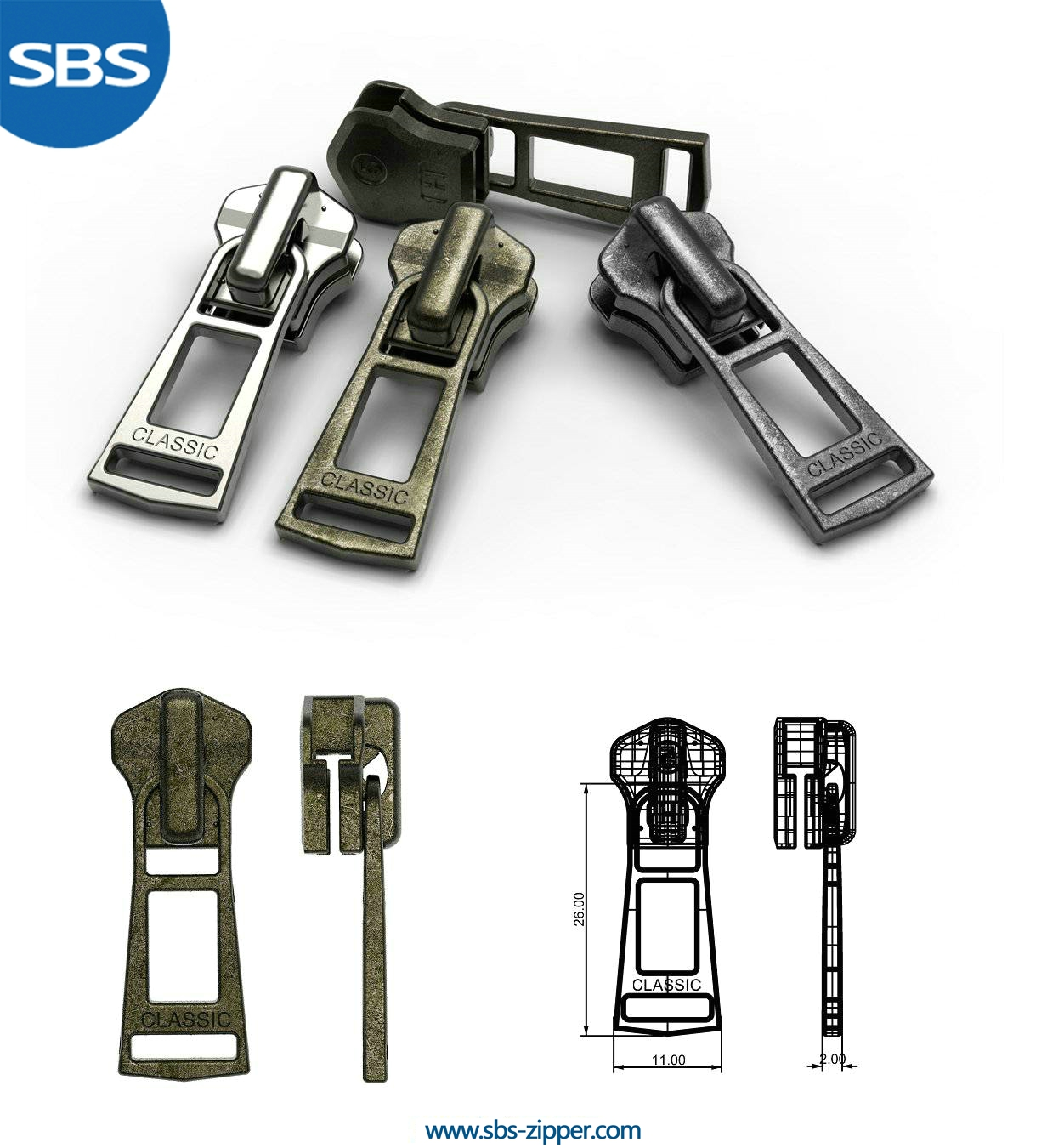 Zipper Puller Design Manufacturer 16AMC006 | SBS Zipper