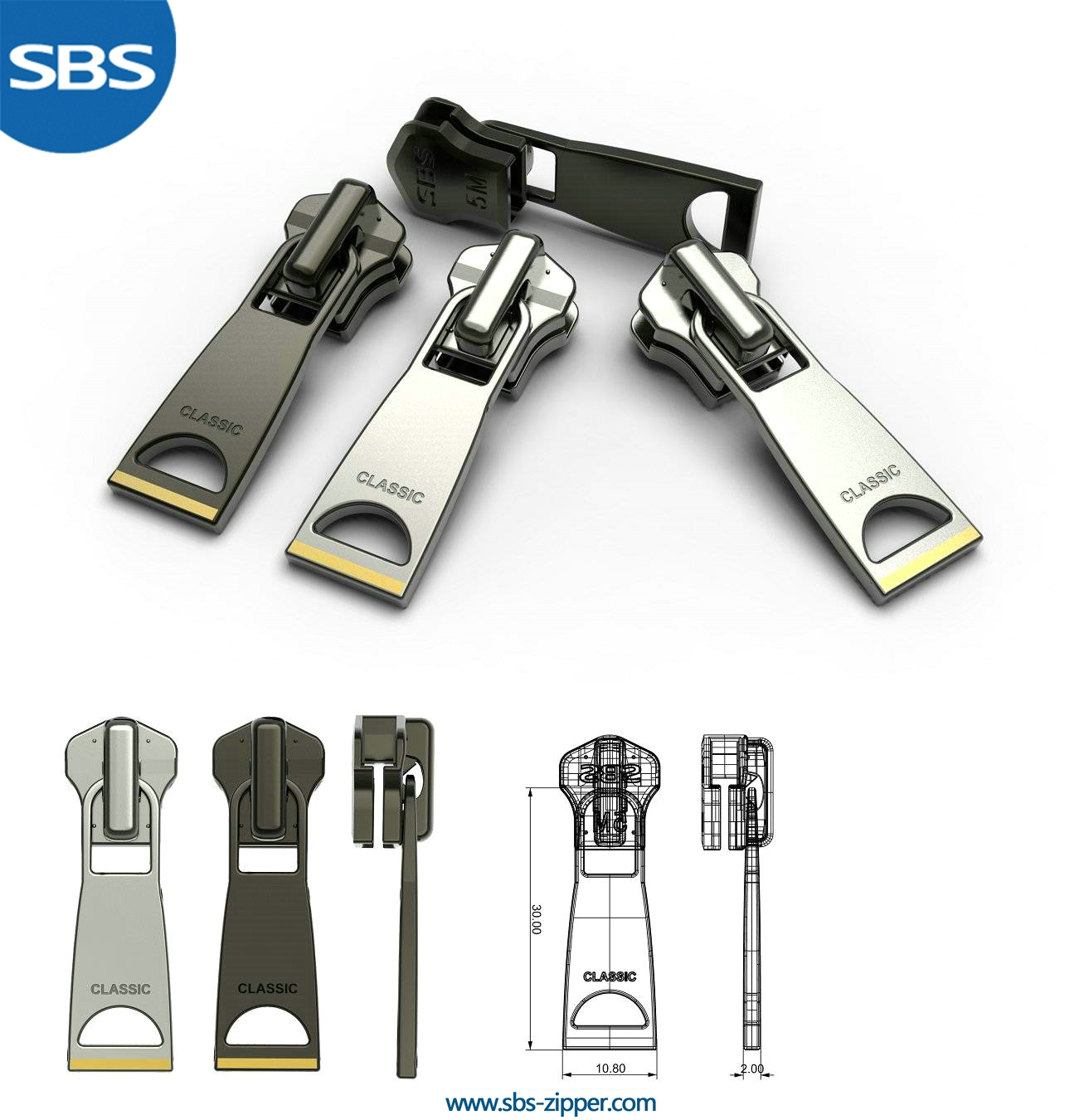 Custom Metal Zipper Pulls Supplier 16AMC014 | SBS Zipper
