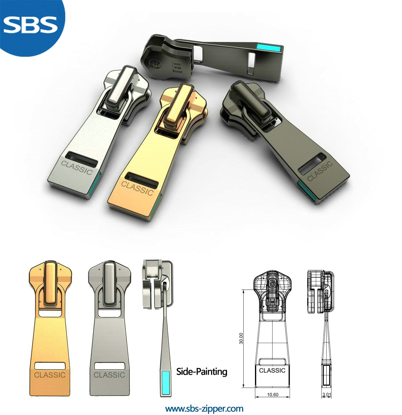 Decorative Zipper Pulls Wholesale 16AMC016 | SBS Zipper