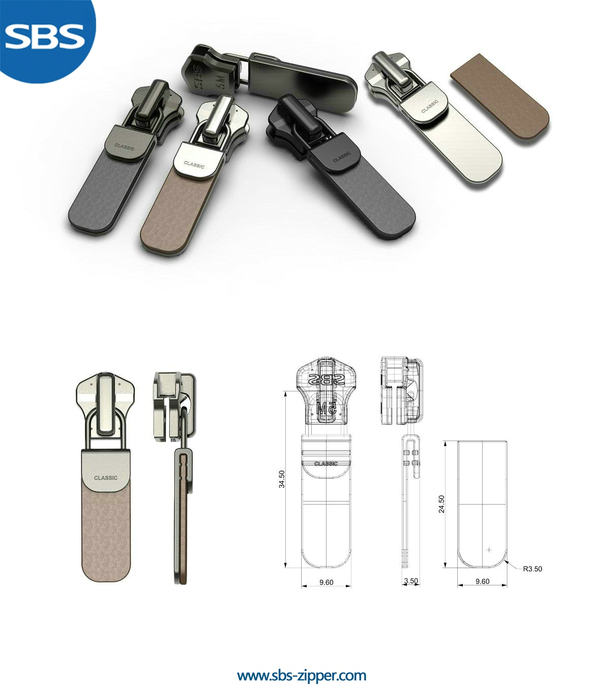 Customized Zipper Pulls Supplier 16AMC020 | SBS Zipper