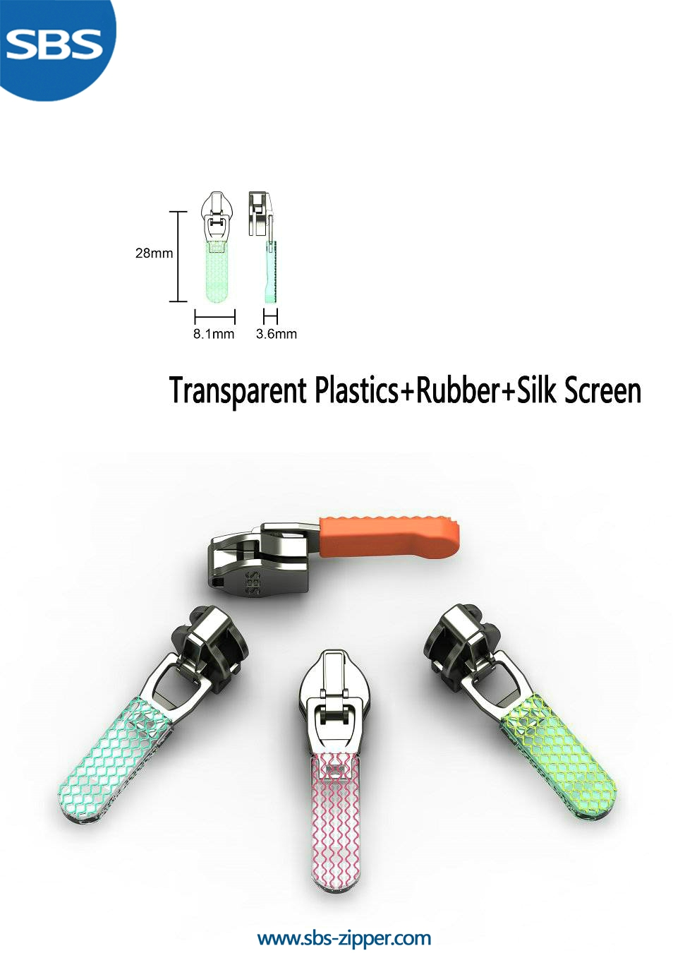 Decorative Zipper Pulls Supplier 16ASO014 | SBS Zipper