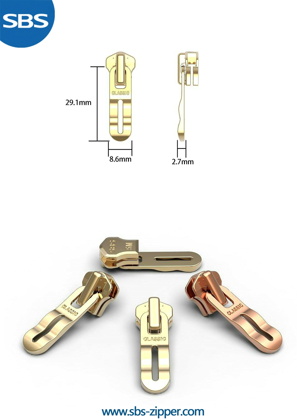 Zipper Pulls Custom Wholesale 16AWC008 | SBS Zipper