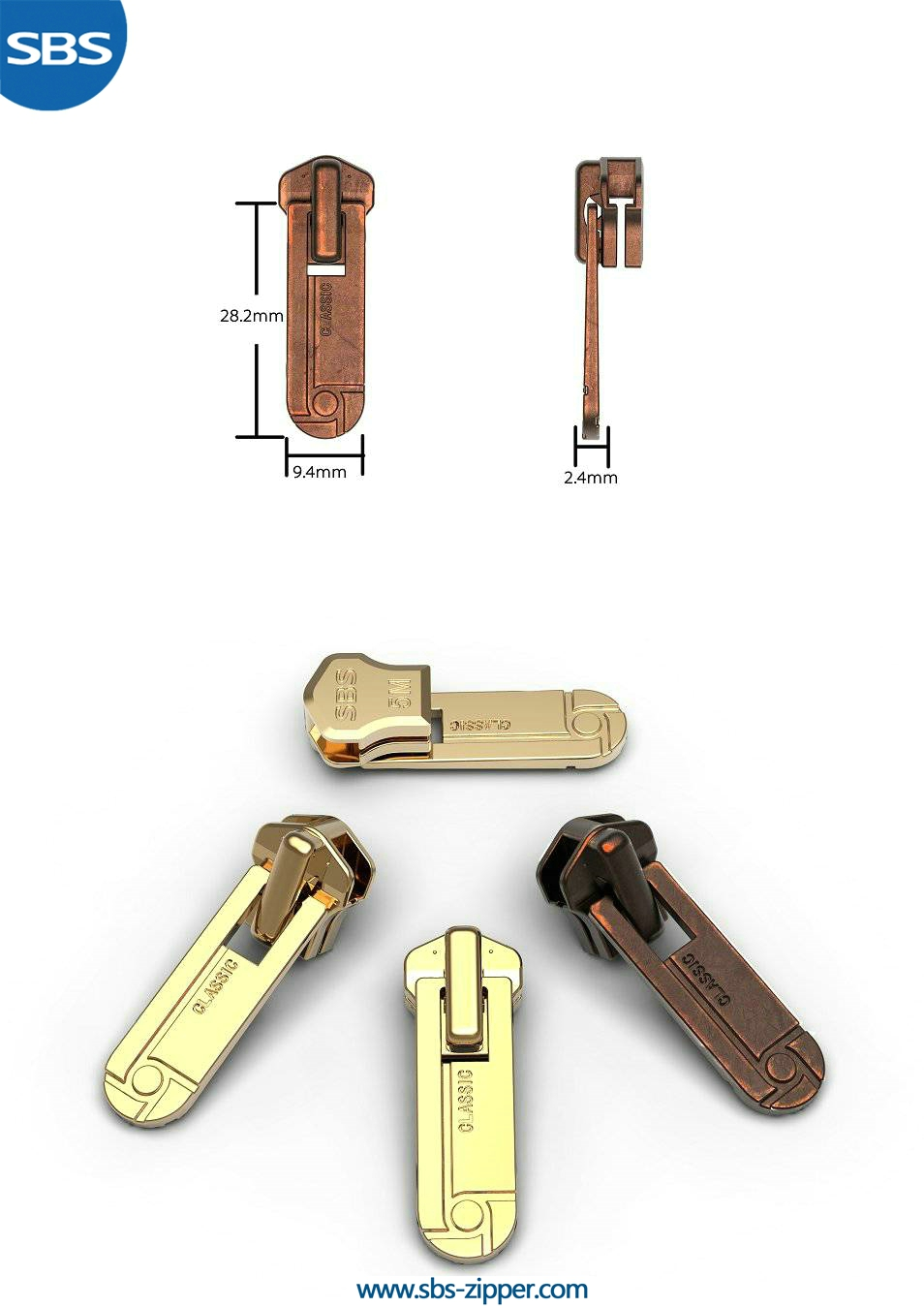 Metal Zipper Pulls Supplier 16AWC011 | SBS Zipper