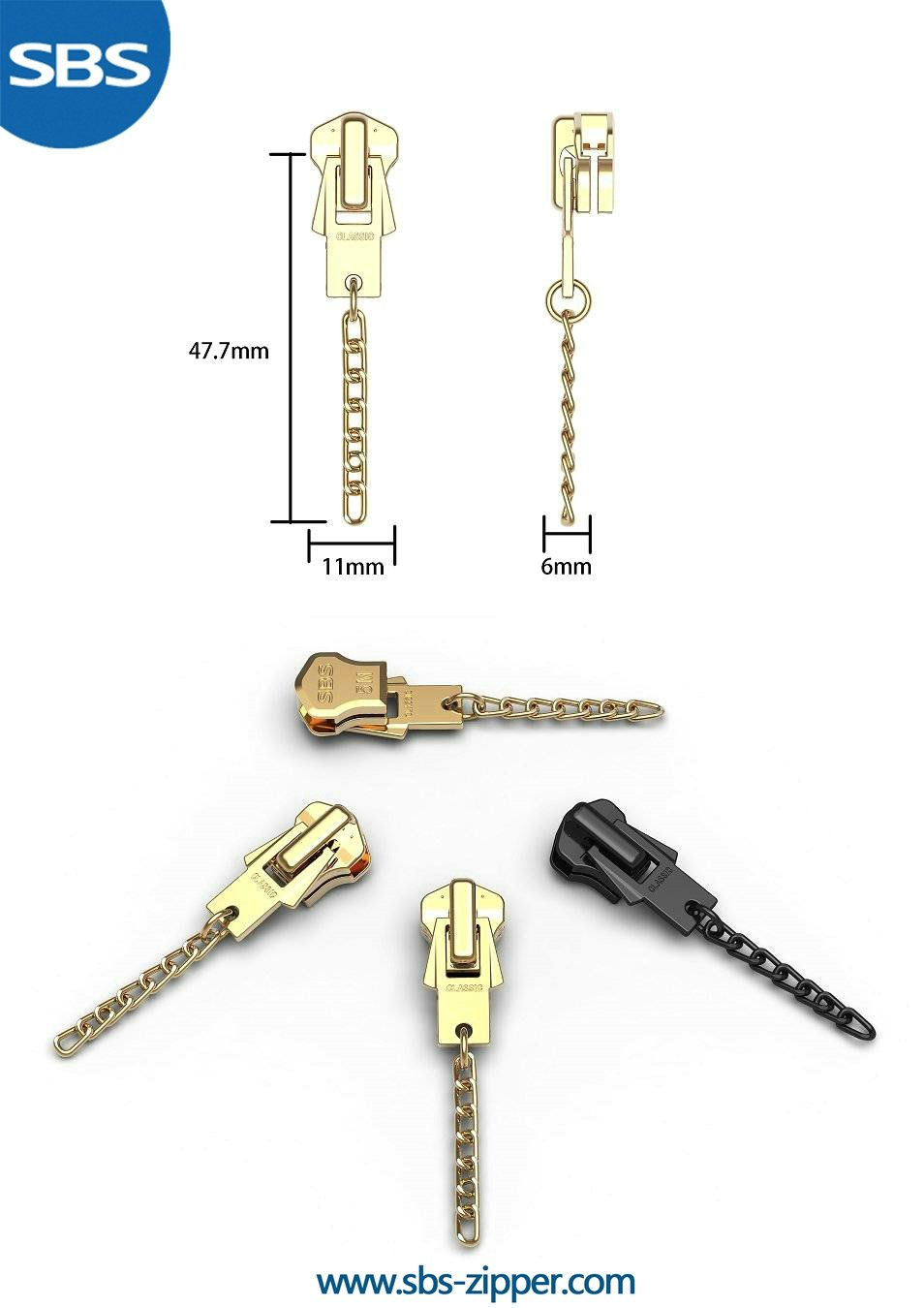 Metal Zipper Pulls Provider 16AWC014 | SBS Zipper