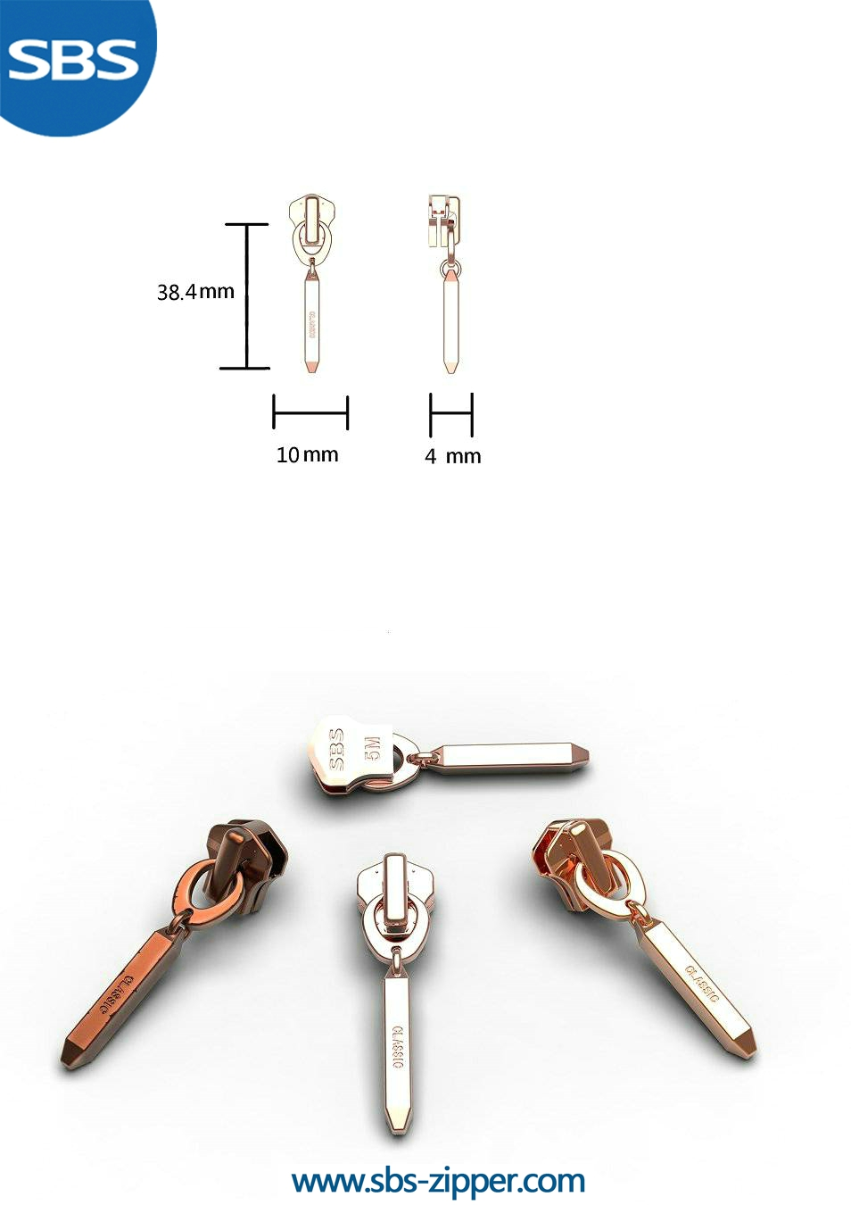 Custom Metal Zipper Pulls Supplier 16AWC022 | SBS Zipper