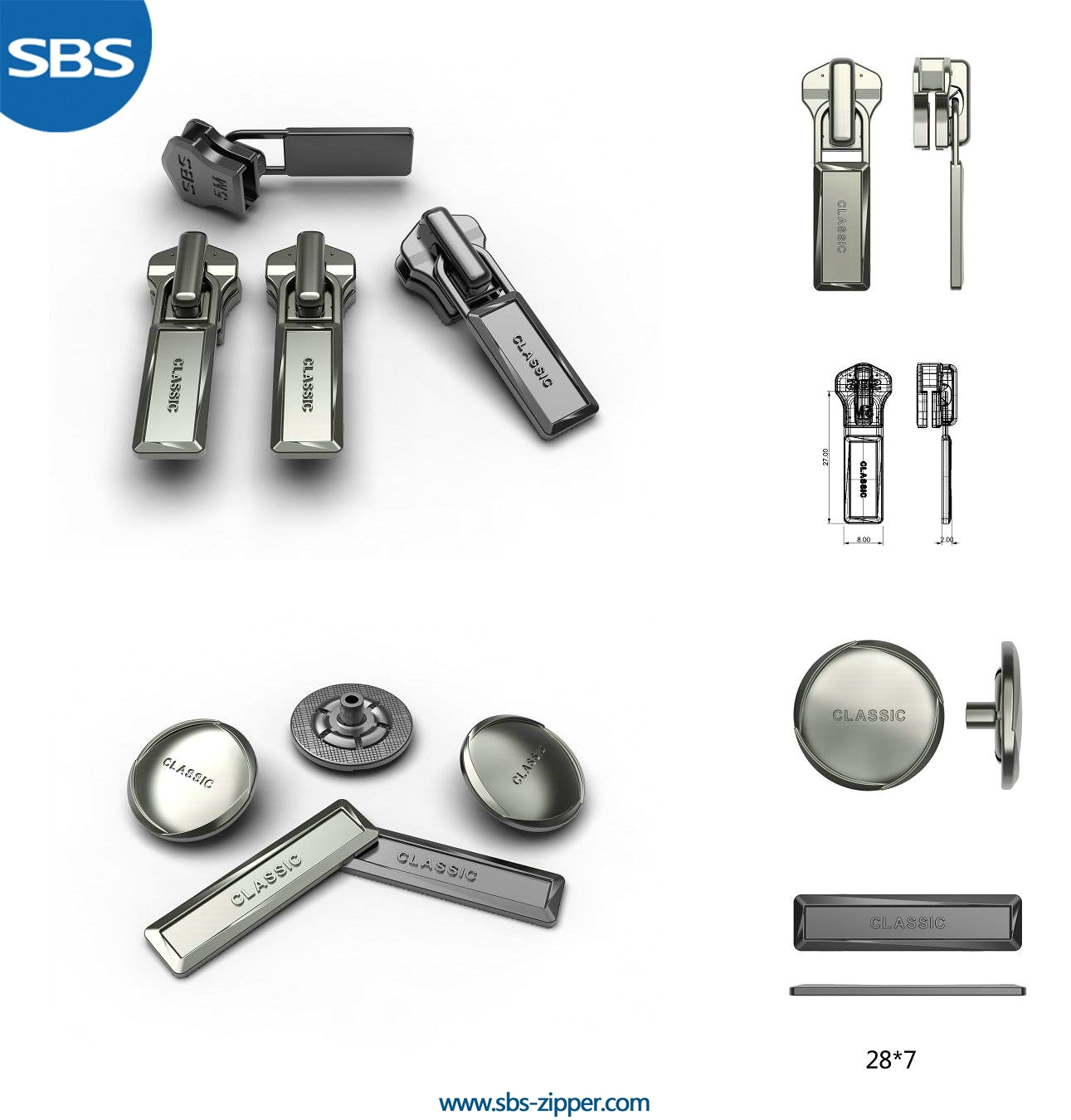 Metal Zipper Pulls Supplier 16SMC008 | SBS Zipper