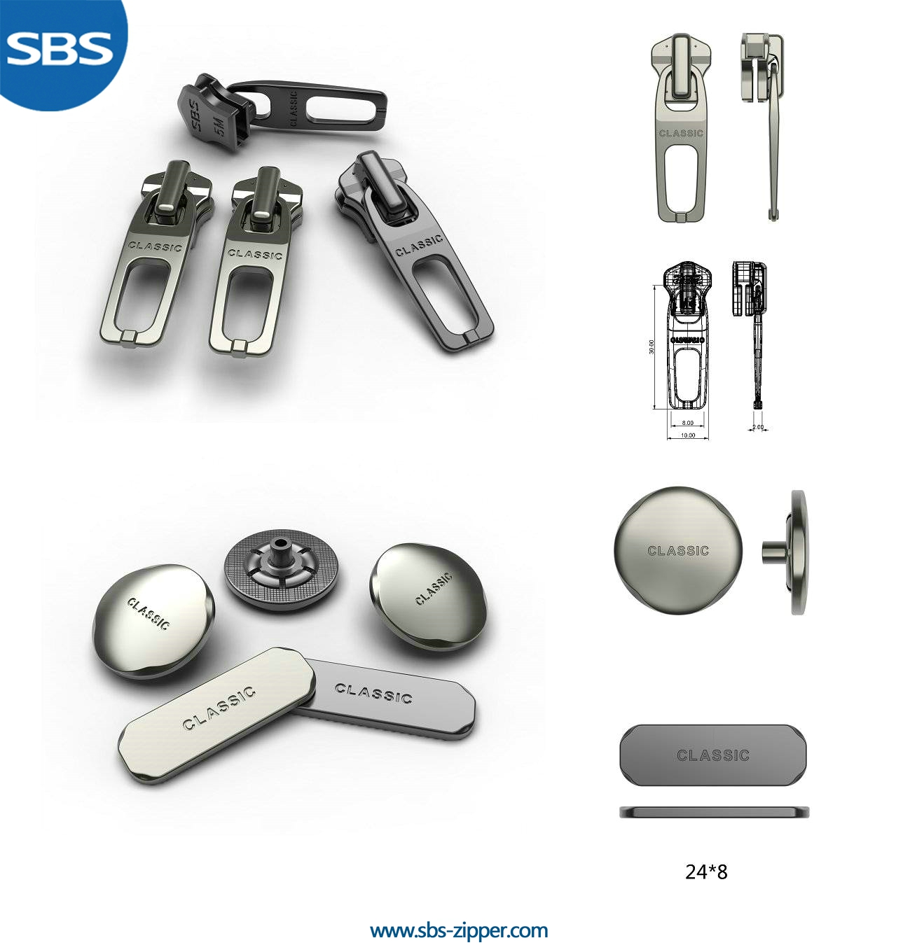 Customized Zipper Pulls Provider 16SMC010 | SBS Zipper
