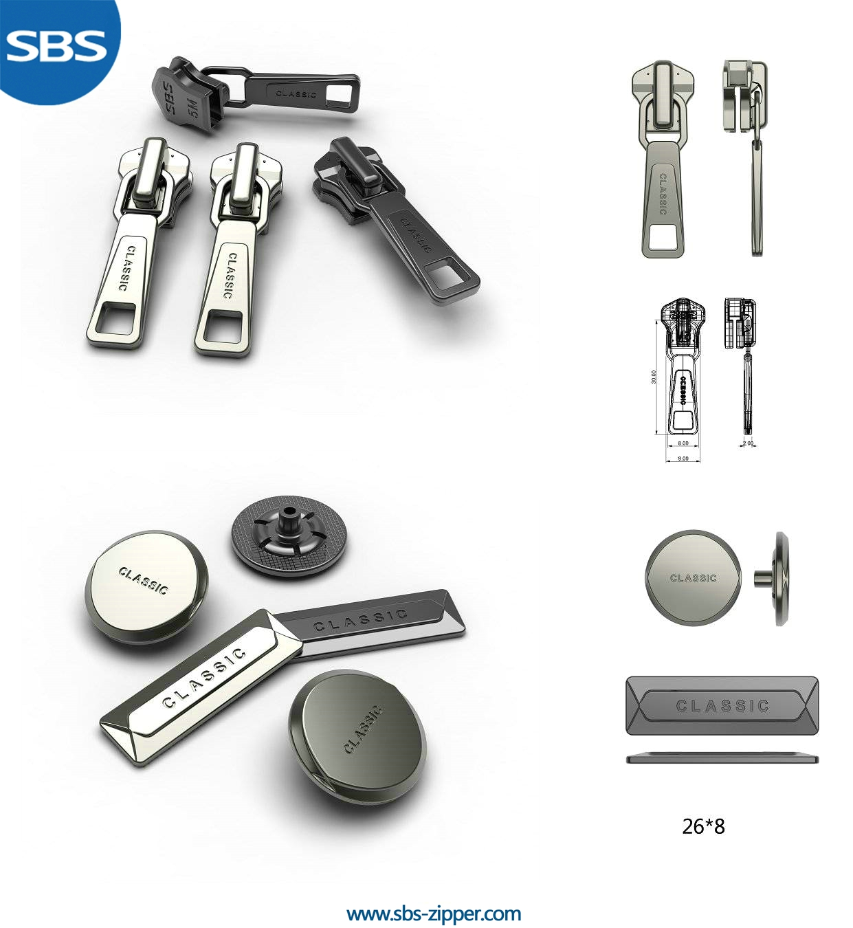 Zipper Pulls For Jacket Manufacturer 16SMC011 | SBS Zipper