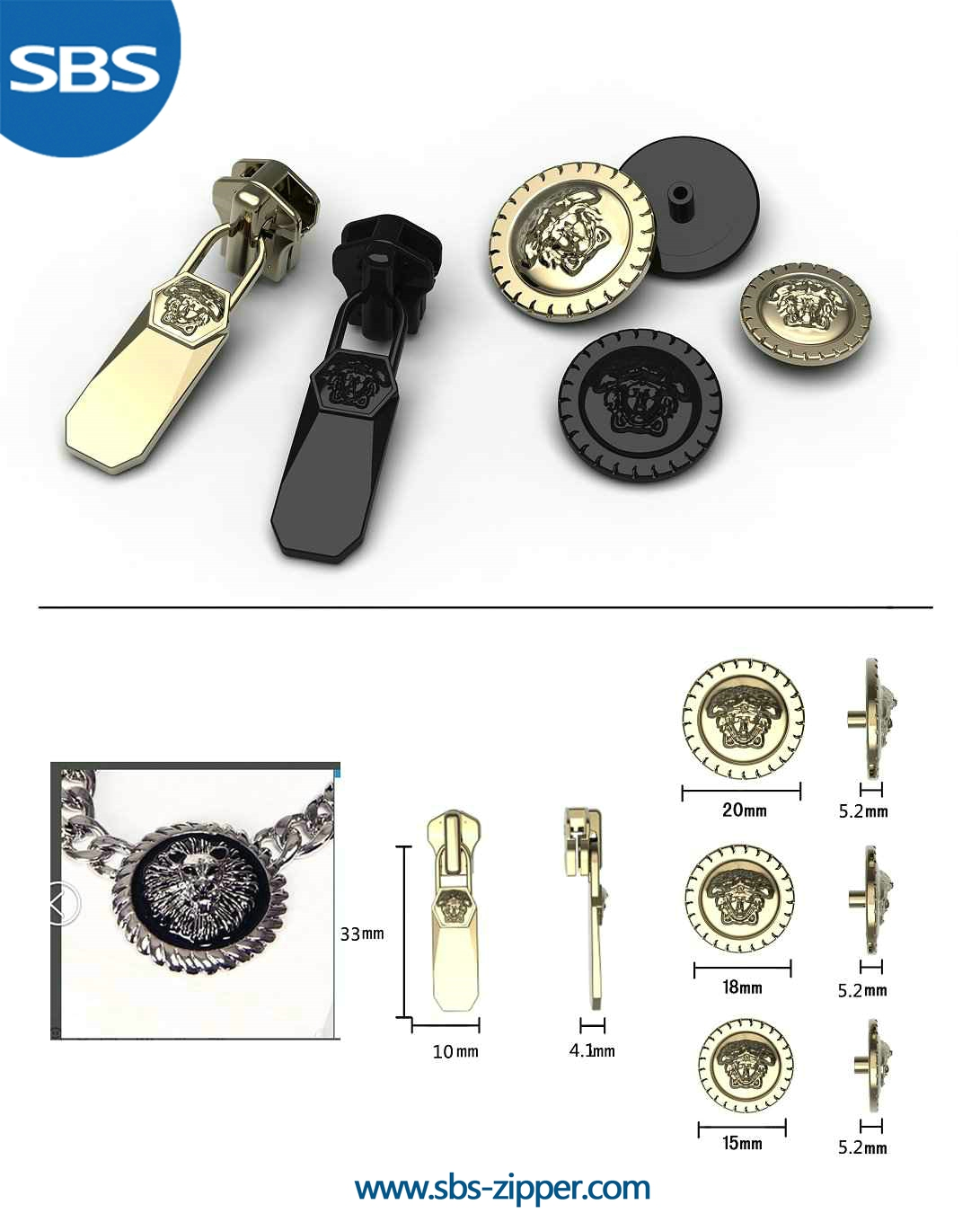 Backpack Zipper Pulls Manufacturer 16SWC018 | SBS Zipper