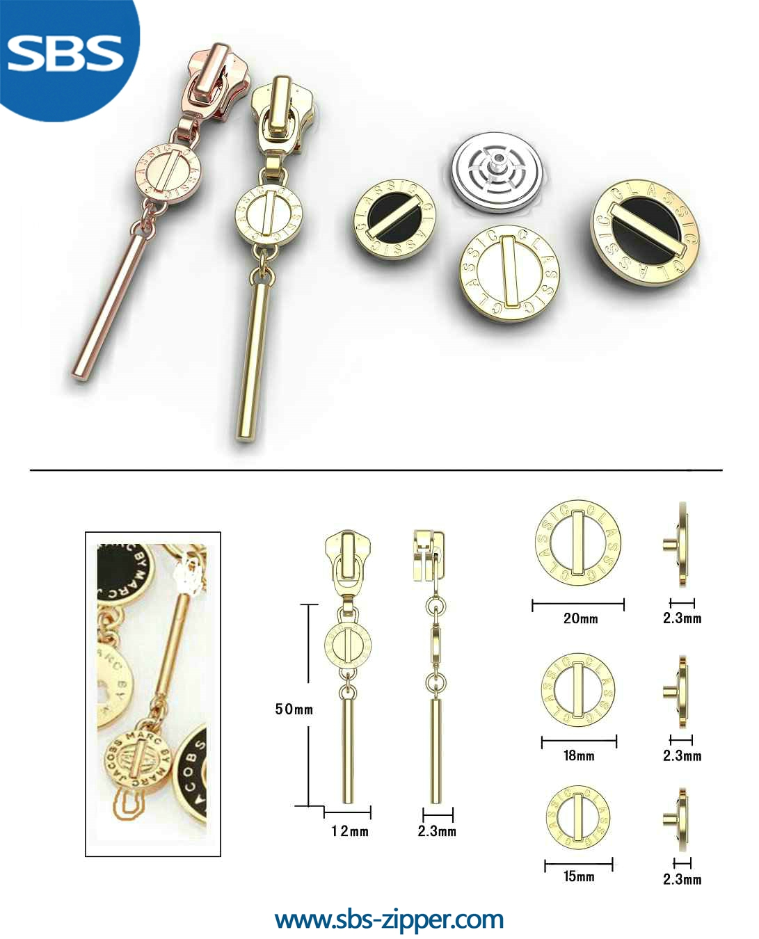 Custom Zipper Pulls Manufacturer 16SWC024 | SBS Zipper
