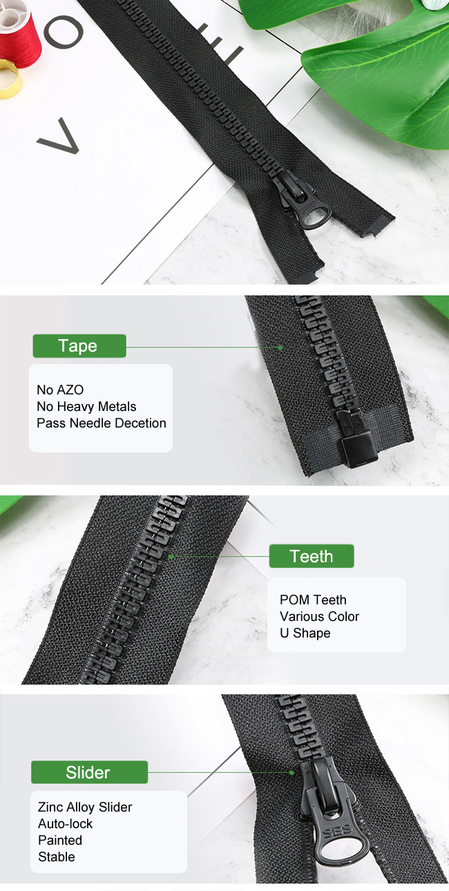 Plastic Zipper With U Teeth manufacturer