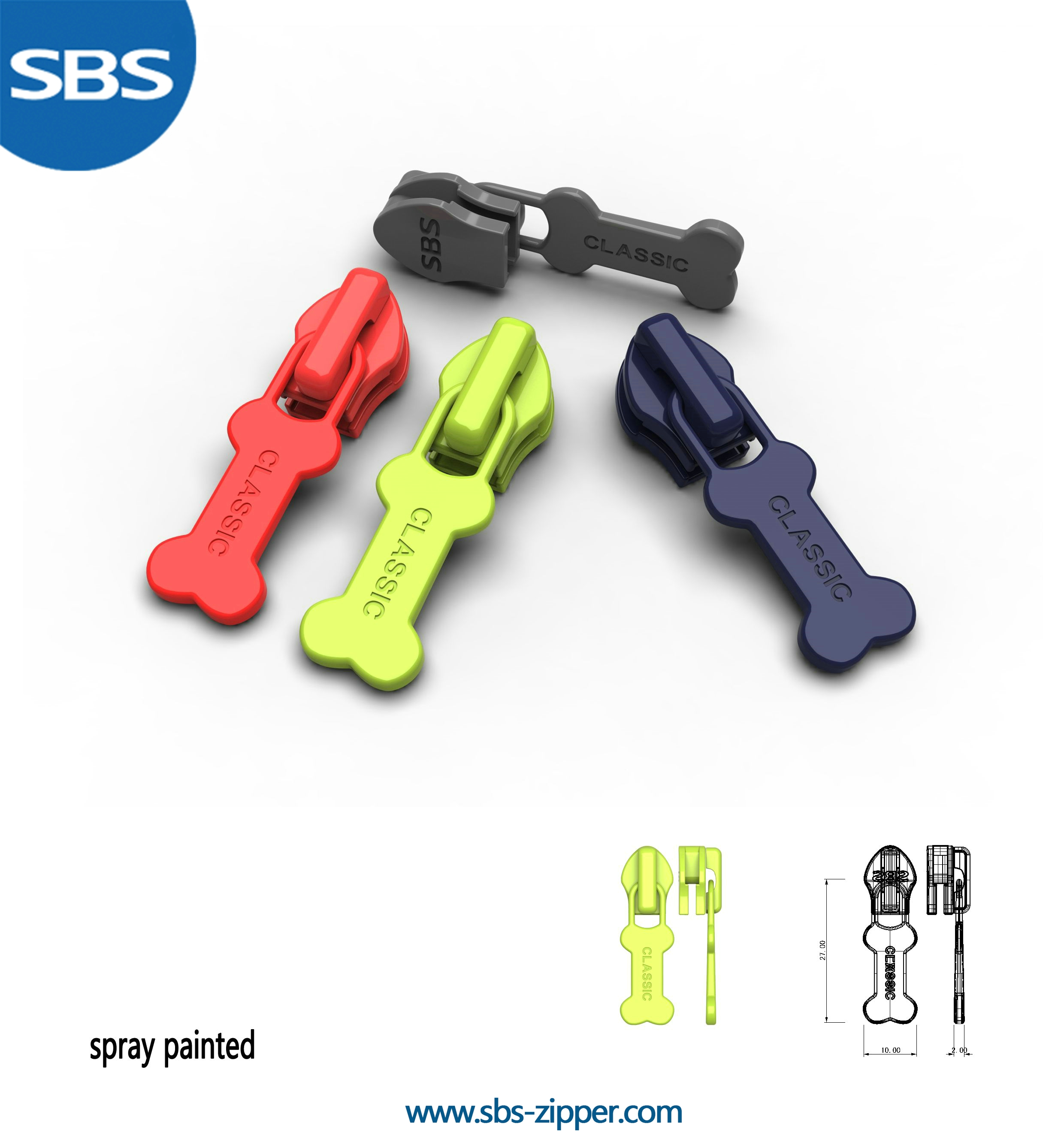 Heavy Duty Zipper Pulls Manufacturer 17SCC002 | SBS Zipper