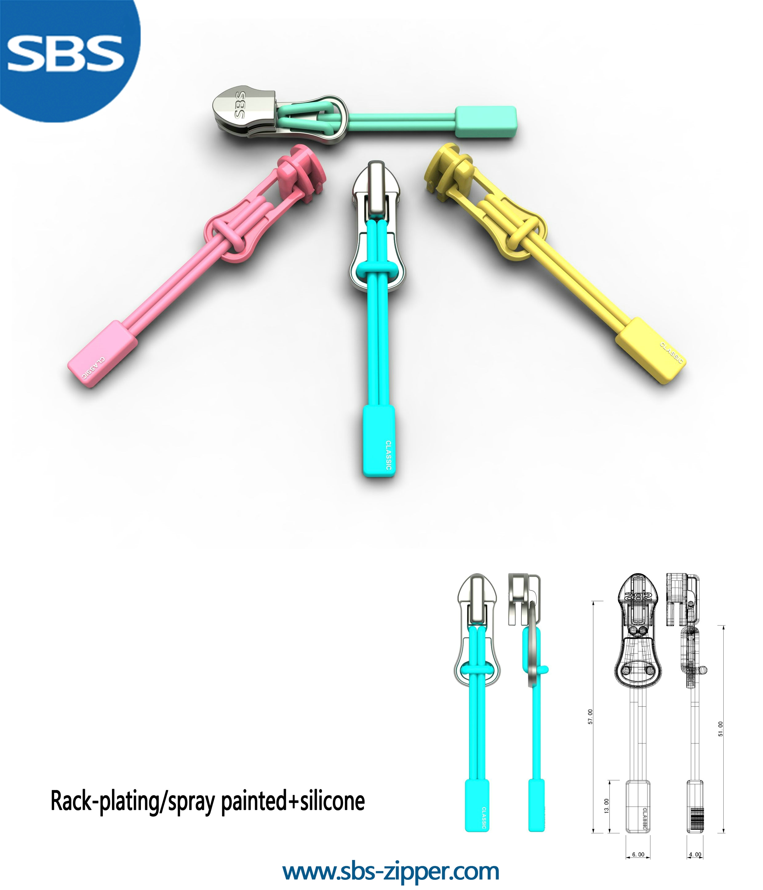 Zipper Puller Design Wholesale 17SCC004 | SBS Zipper