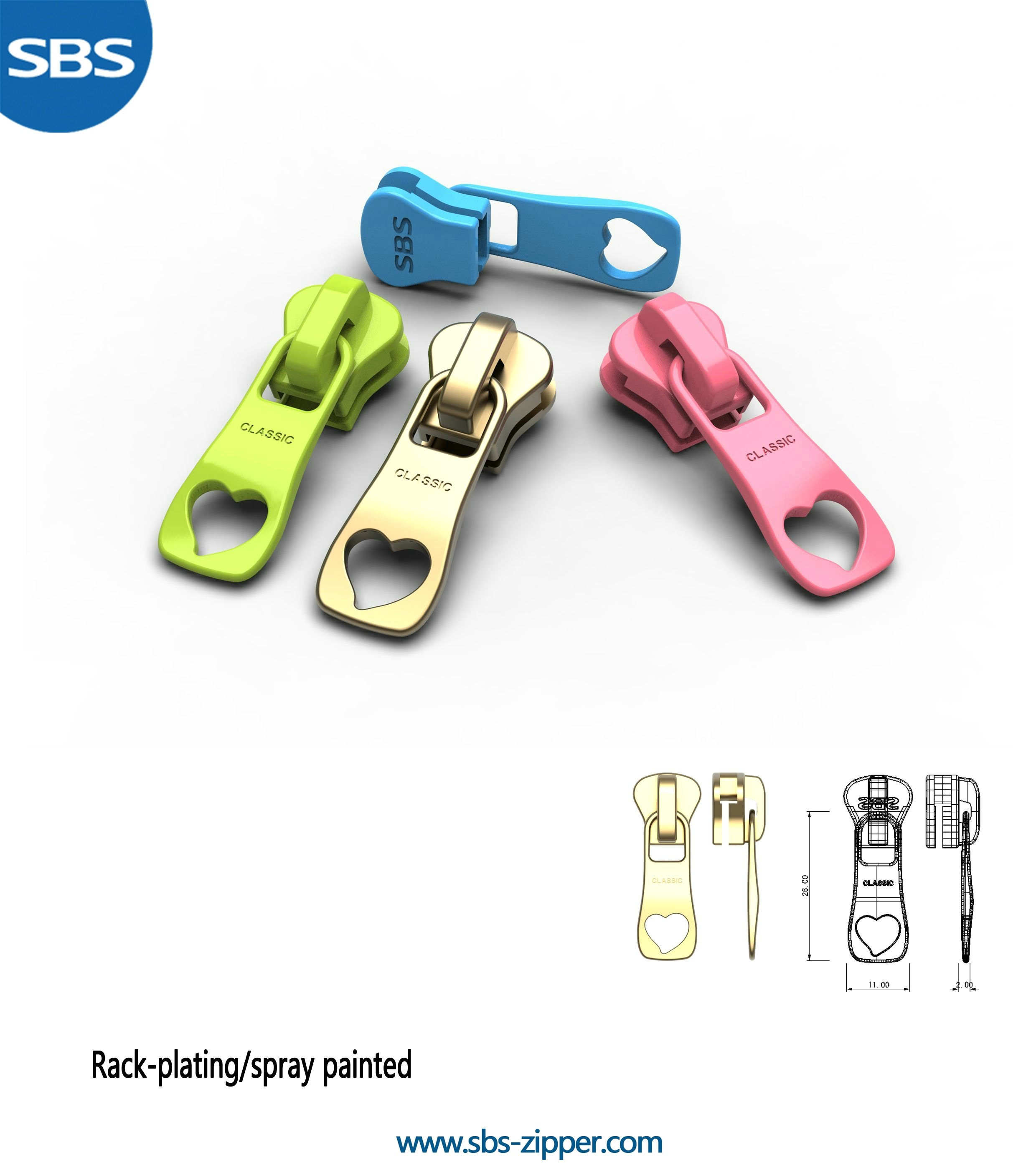Heavy Duty Zipper Pulls Supplier 17SCC010 | SBS Zipper
