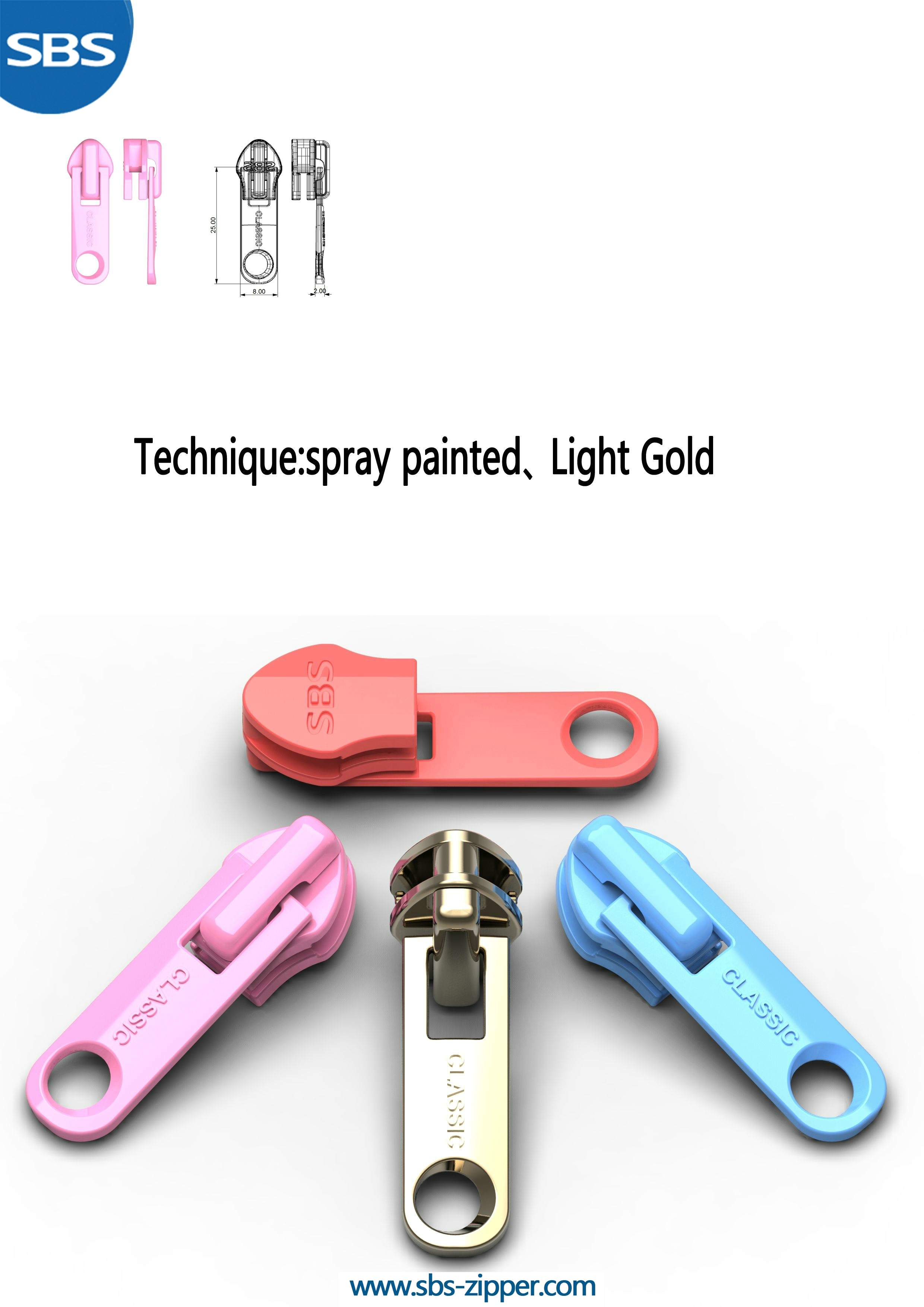Decorative Zipper Pulls Wholesale 17SCC023 | SBS Zipper